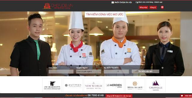 chefjob trang tuyen dung viec lam nha hang khach san