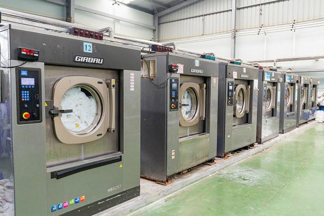 Máy giặt khô rất phổ biến ở khách sạ