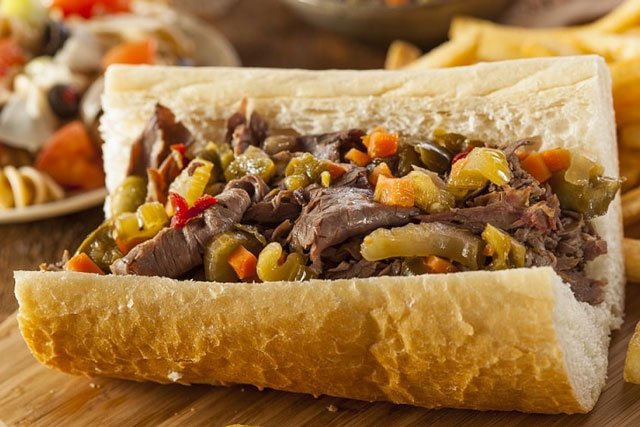 Sandwich thịt bò